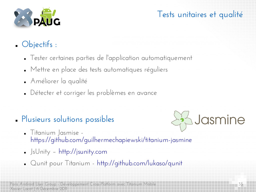 Paris Android User Group - Développement Cross-...