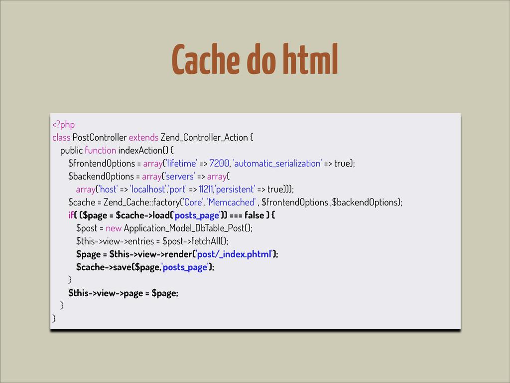 Cache do html <?php class PostController extend...