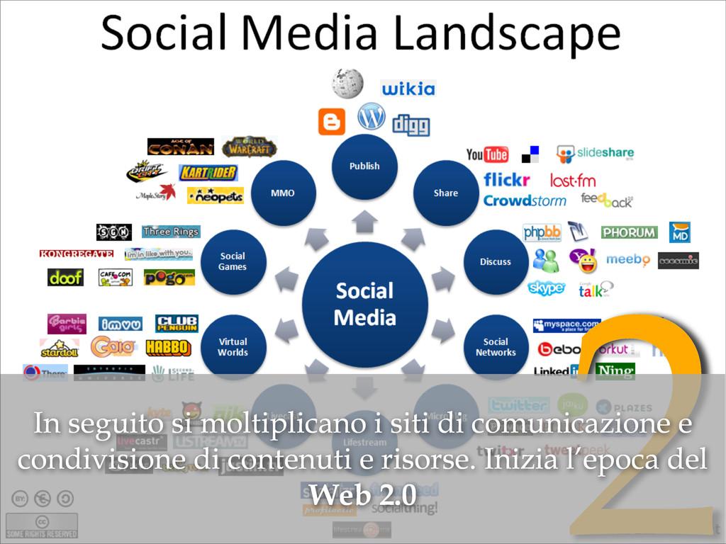 2 In seguito si moltiplicano i siti di comunica...