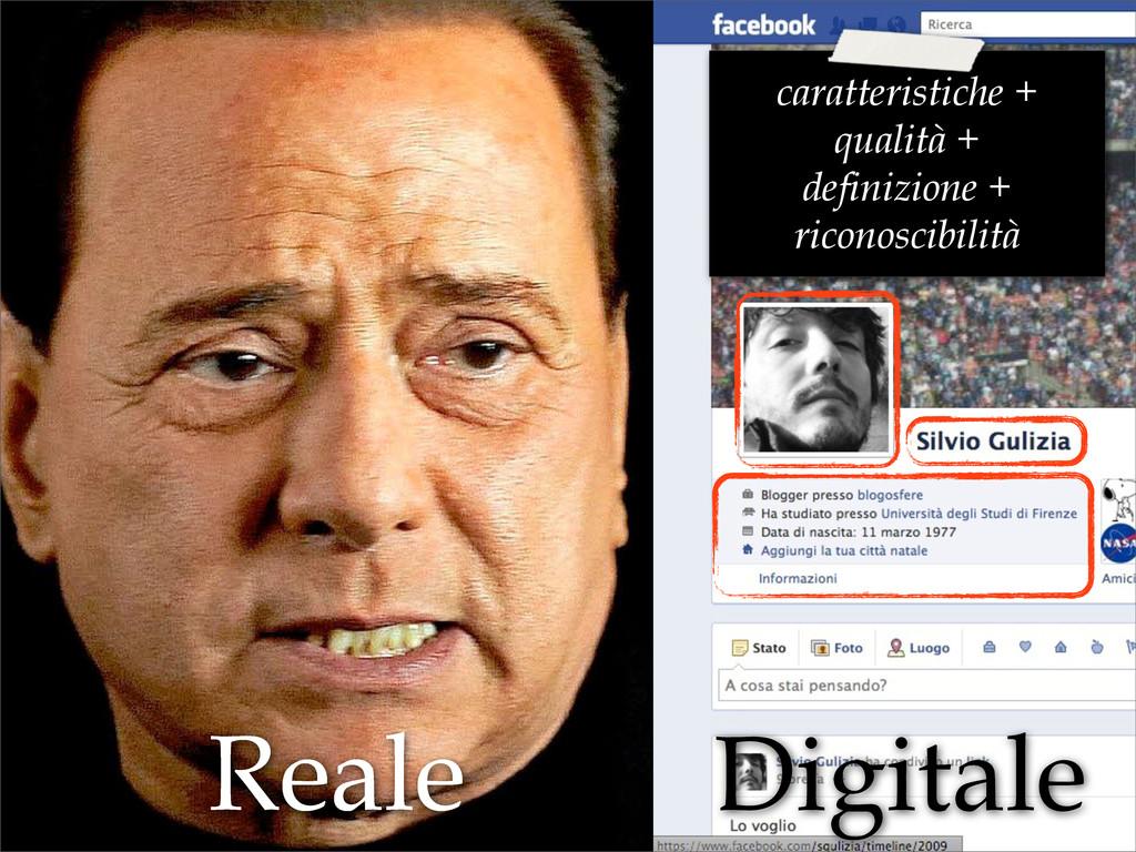 Reale Digitale caratteristiche + qualità + defi...