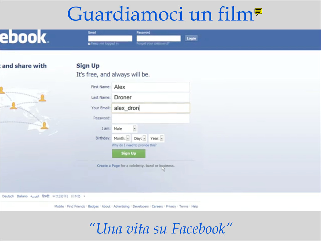 """Una vita su Facebook"" Guardiamoci un film"