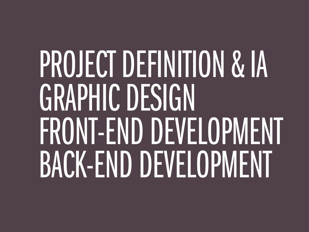 PROJECT DEFINITION & IA GRAPHIC DESIGN FRONT-EN...