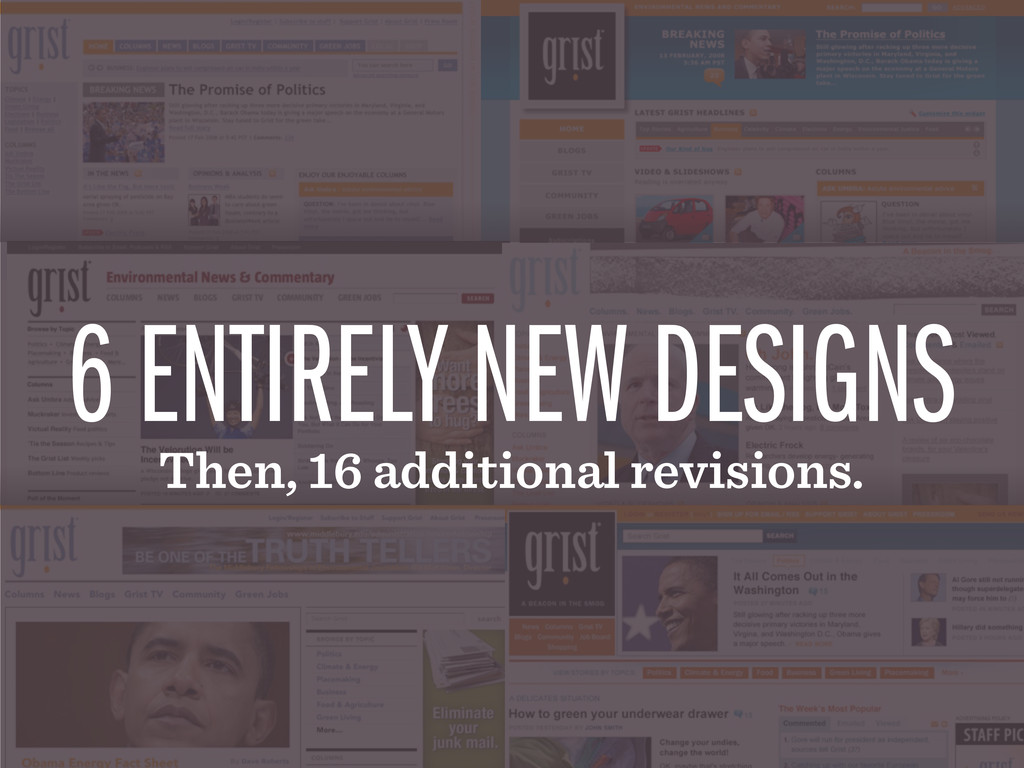 6 ENTIRELY NEW DESIGNS Then, 16 additional revi...