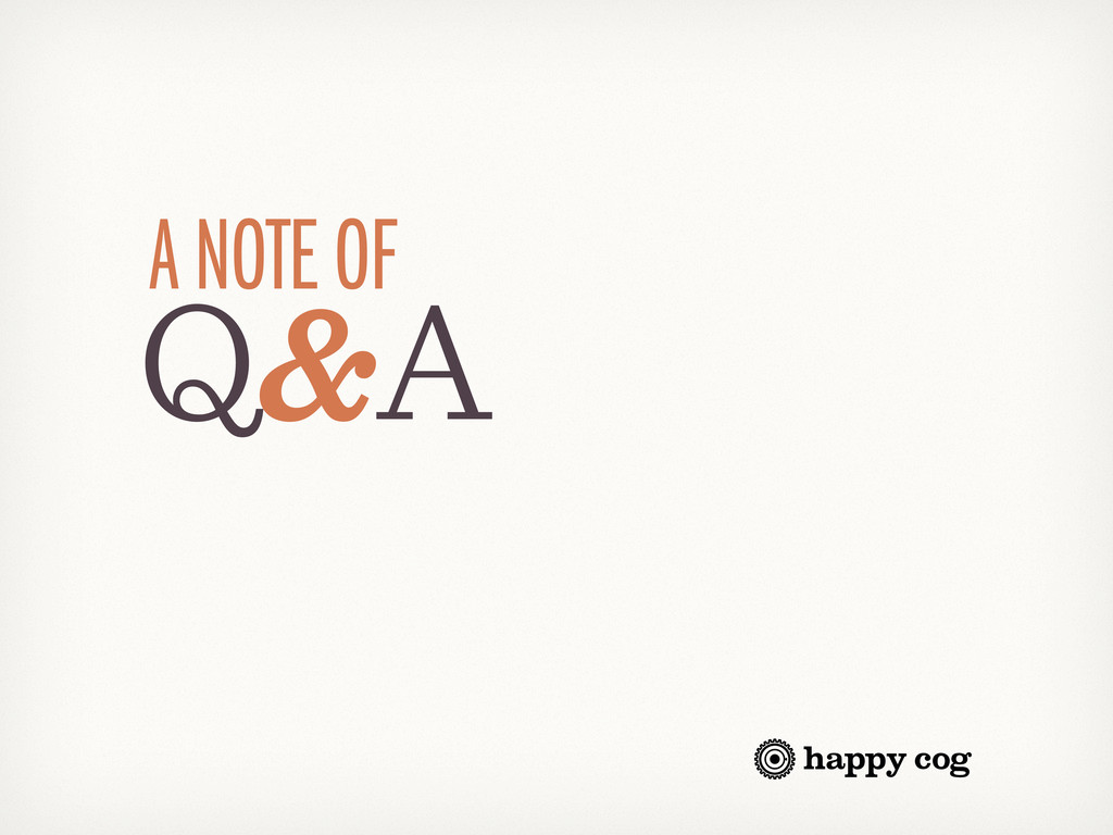 Q&A A NOTE OF