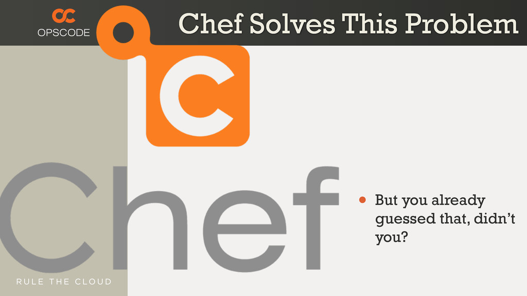 Chef Solves This Problem • But you already gues...