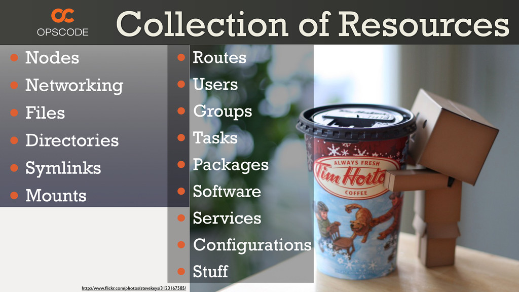Collection of Resources • Nodes • Networking • ...