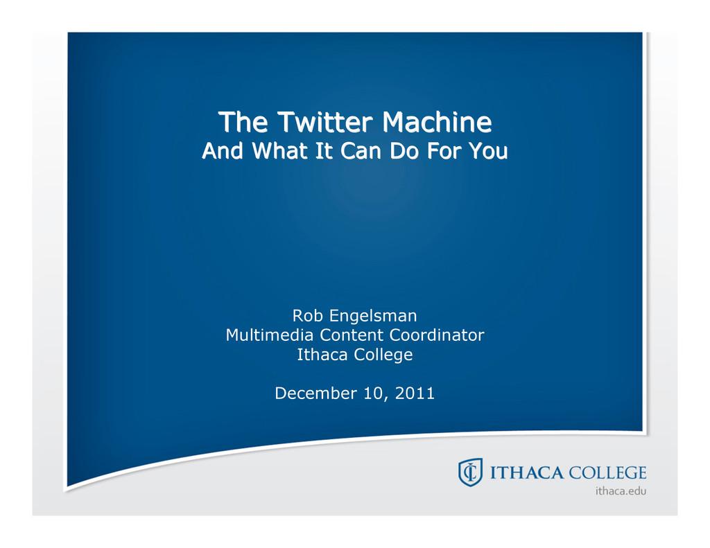 The Twitter Machine The Twitter Machine And Wha...