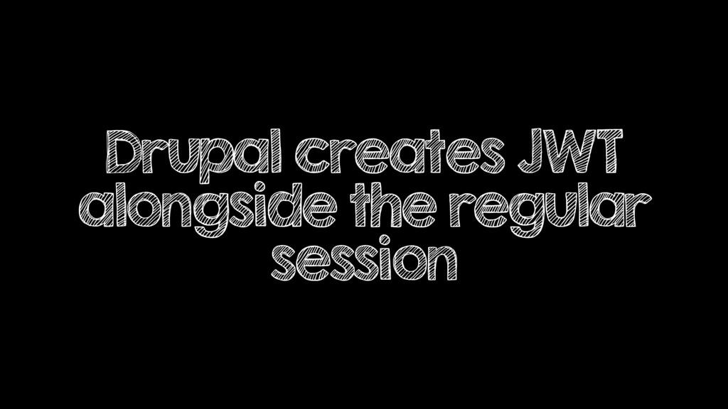 Drupal creates JWT alongside the regular session