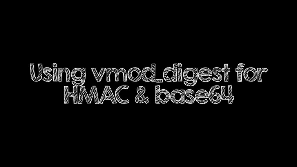 Using vmod_digest for HMAC & base64