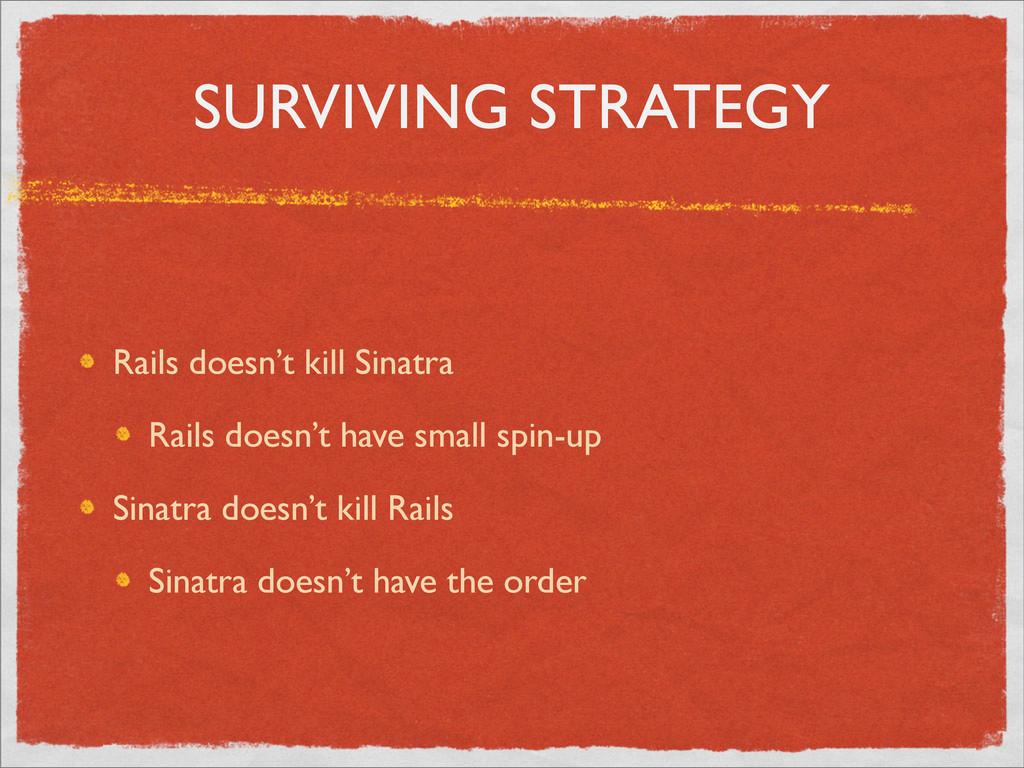 SURVIVING STRATEGY Rails doesn't kill Sinatra R...