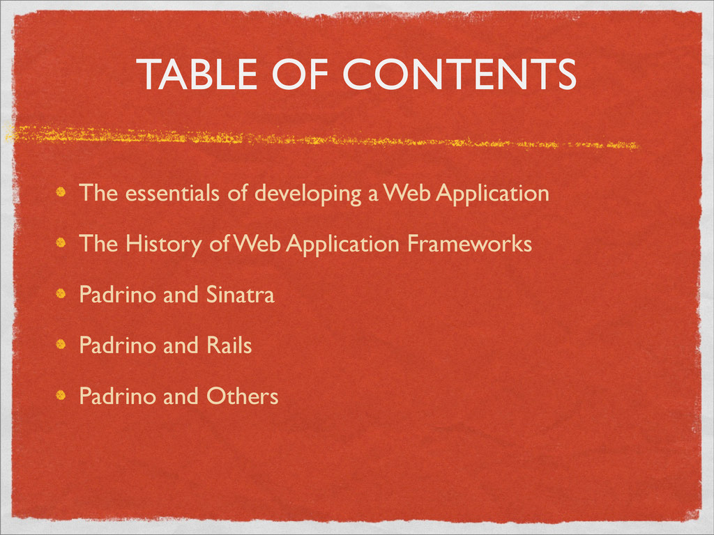 TABLE OF CONTENTS The essentials of developing ...