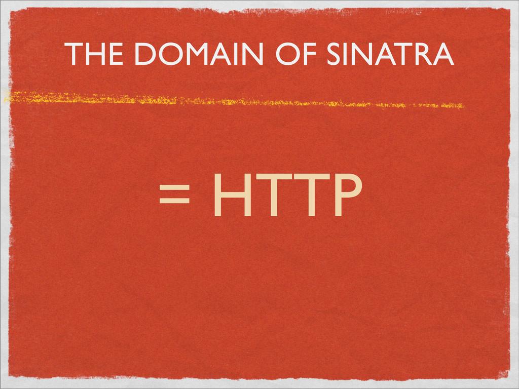 THE DOMAIN OF SINATRA = HTTP