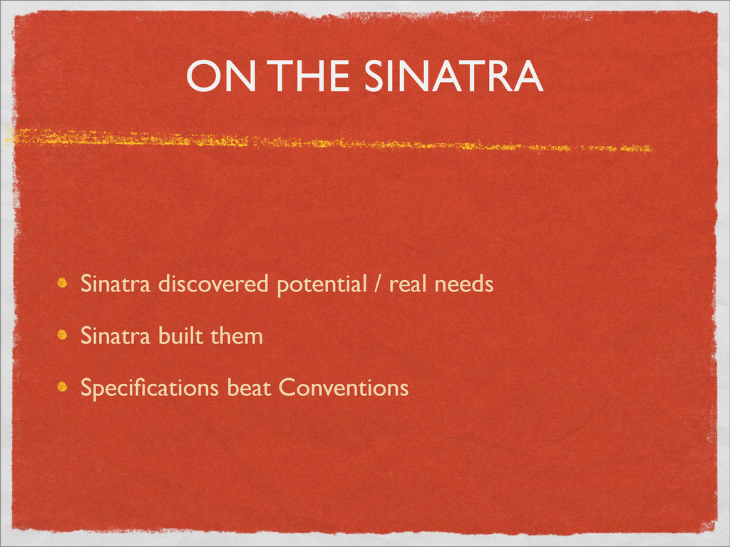 ON THE SINATRA Sinatra discovered potential / r...