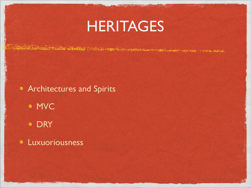 HERITAGES Architectures and Spirits MVC DRY Lux...