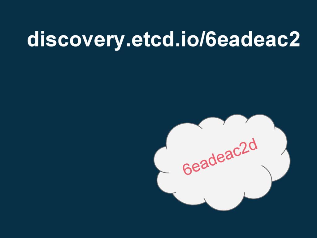 discovery.etcd.io/6eadeac2 6eadeac2d
