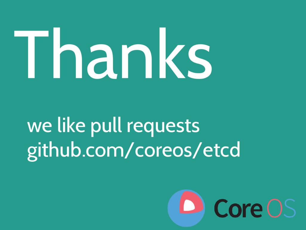 Thanks we like pull requests github.com/coreos/...