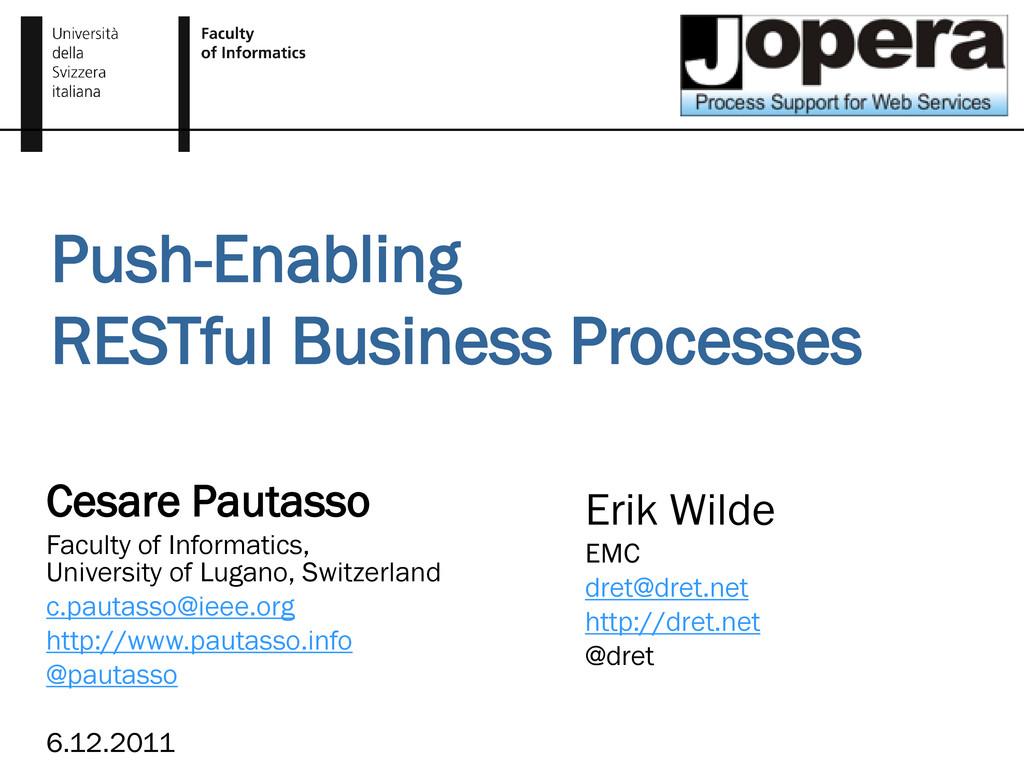 Push-Enabling RESTful Business Processes Cesare...