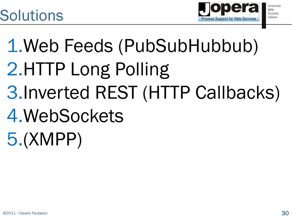 ©2011 - Cesare Pautasso 30 Solutions 1.Web Feed...