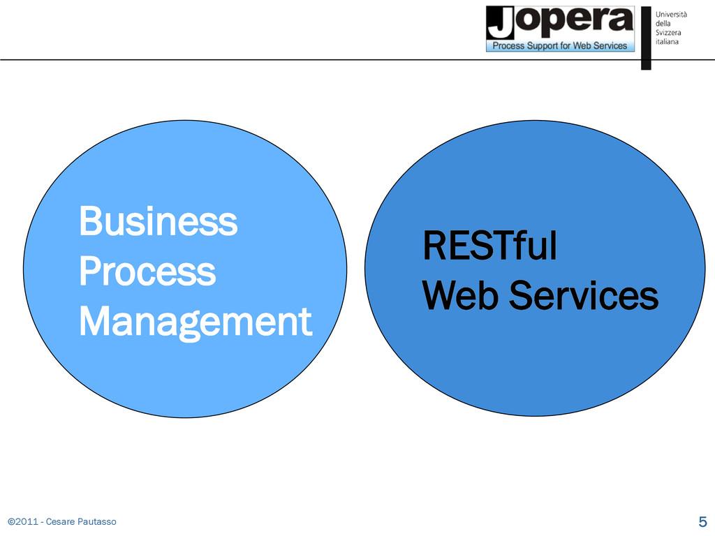 ©2011 - Cesare Pautasso 5 Business Process Mana...