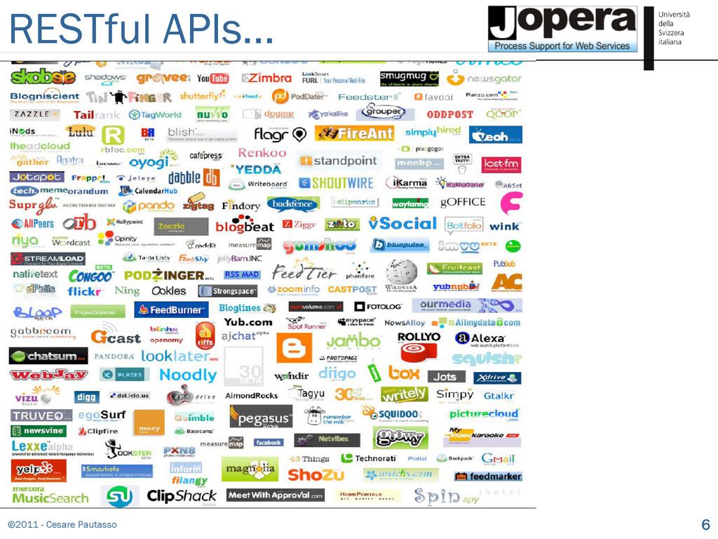 ©2011 - Cesare Pautasso 6 RESTful APIs…
