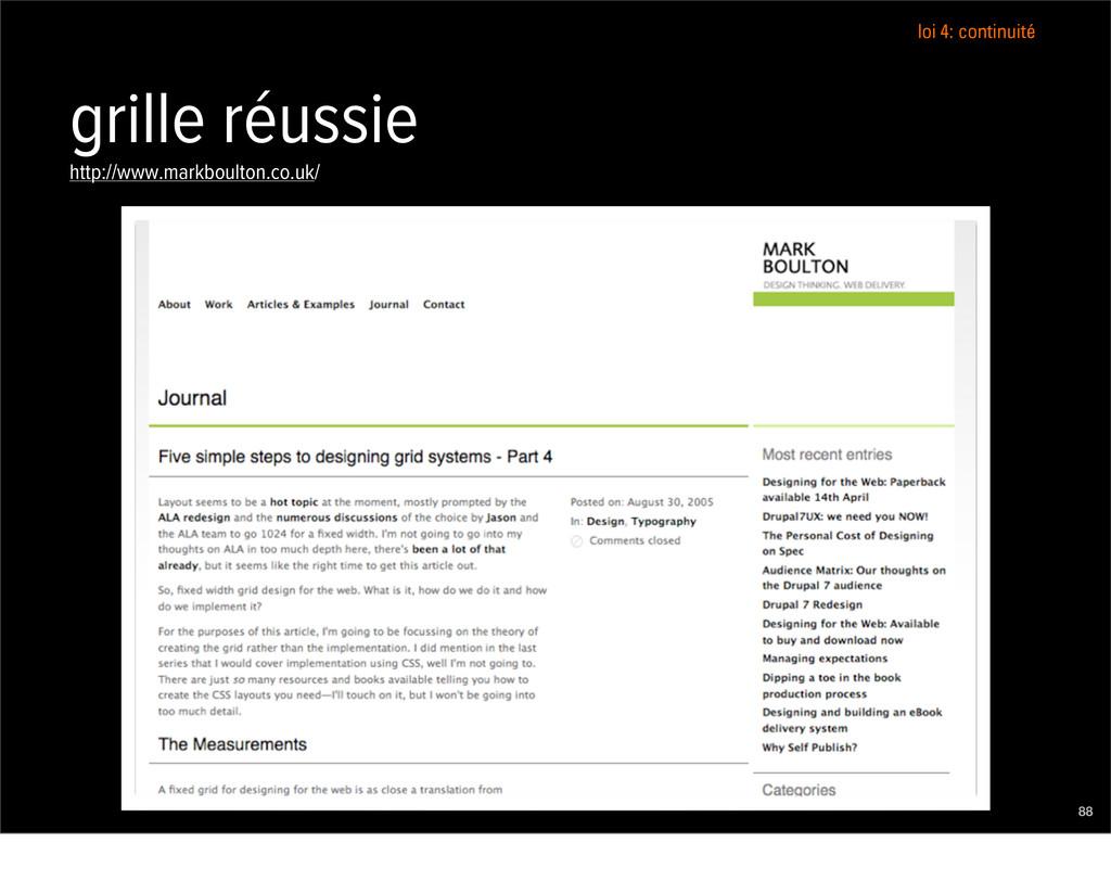 grille réussie http://www.markboulton.co.uk/ 88...