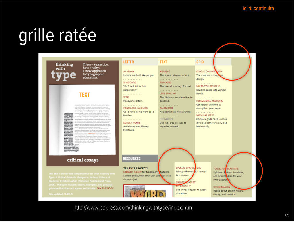 grille ratée 89 http://www.papress.com/thinking...