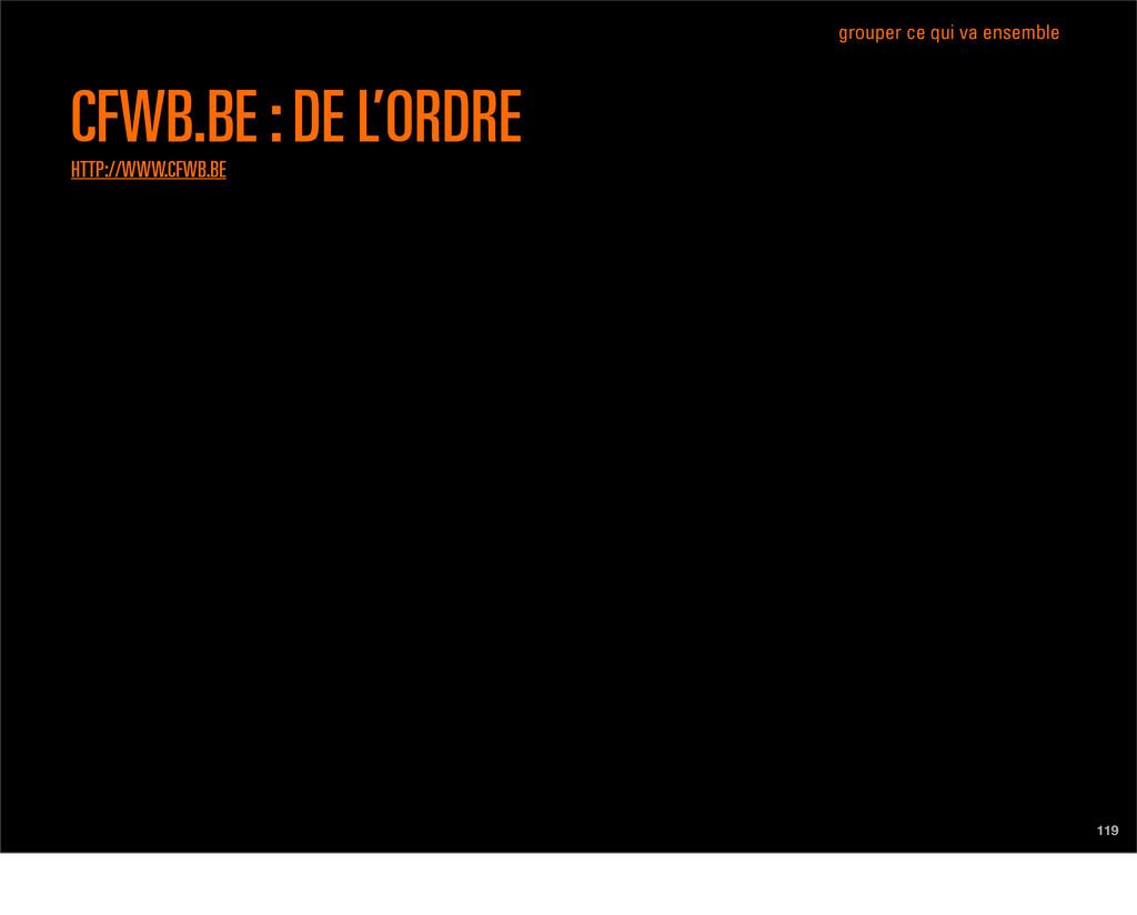 119 CFWB.BE : DE L'ORDRE HTTP://WWW.CFWB.BE gro...