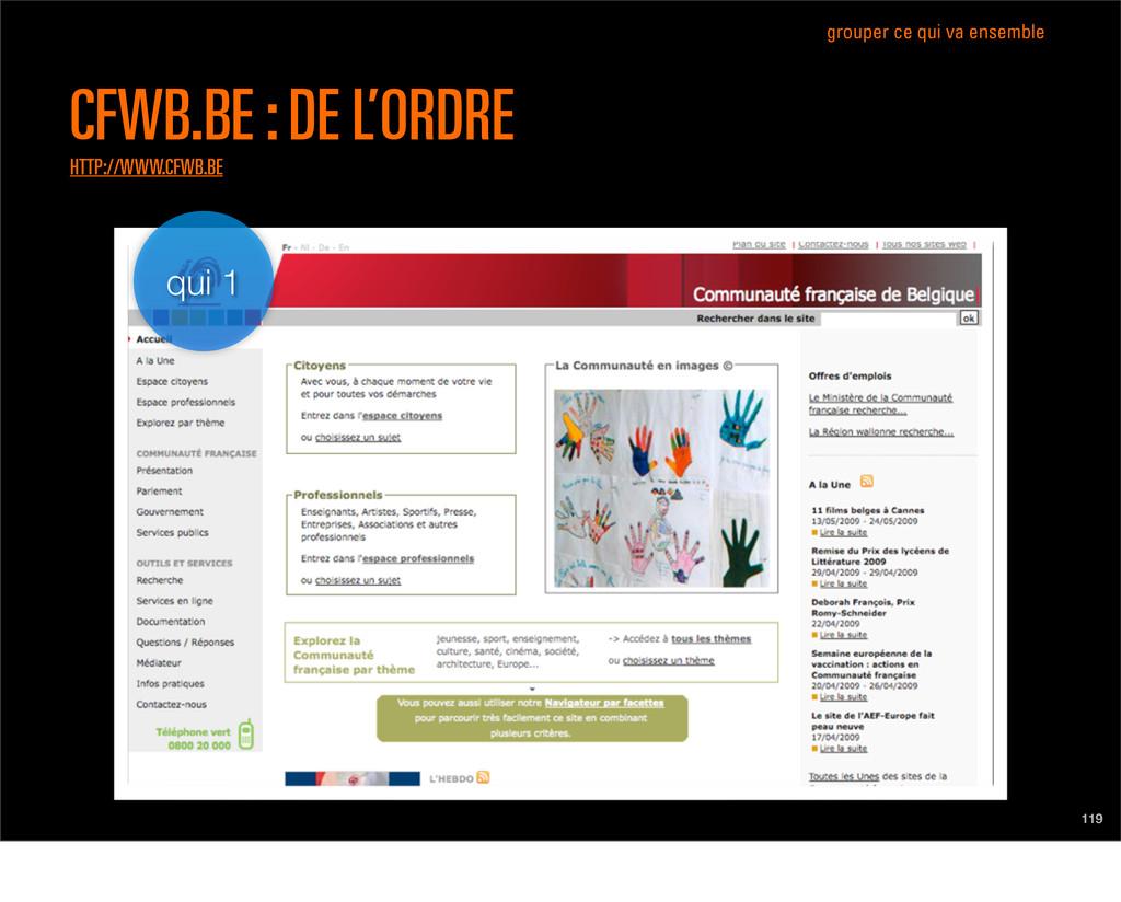 qui 1 119 CFWB.BE : DE L'ORDRE HTTP://WWW.CFWB....