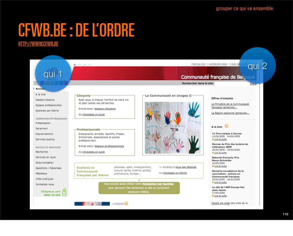 qui 1 qui 2 119 CFWB.BE : DE L'ORDRE HTTP://WWW...