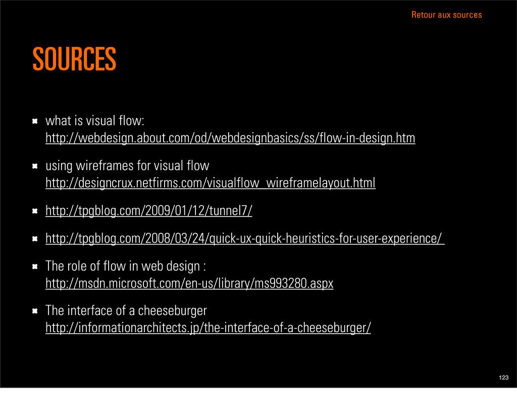 Retour aux sources 123 what is visual flow: htt...