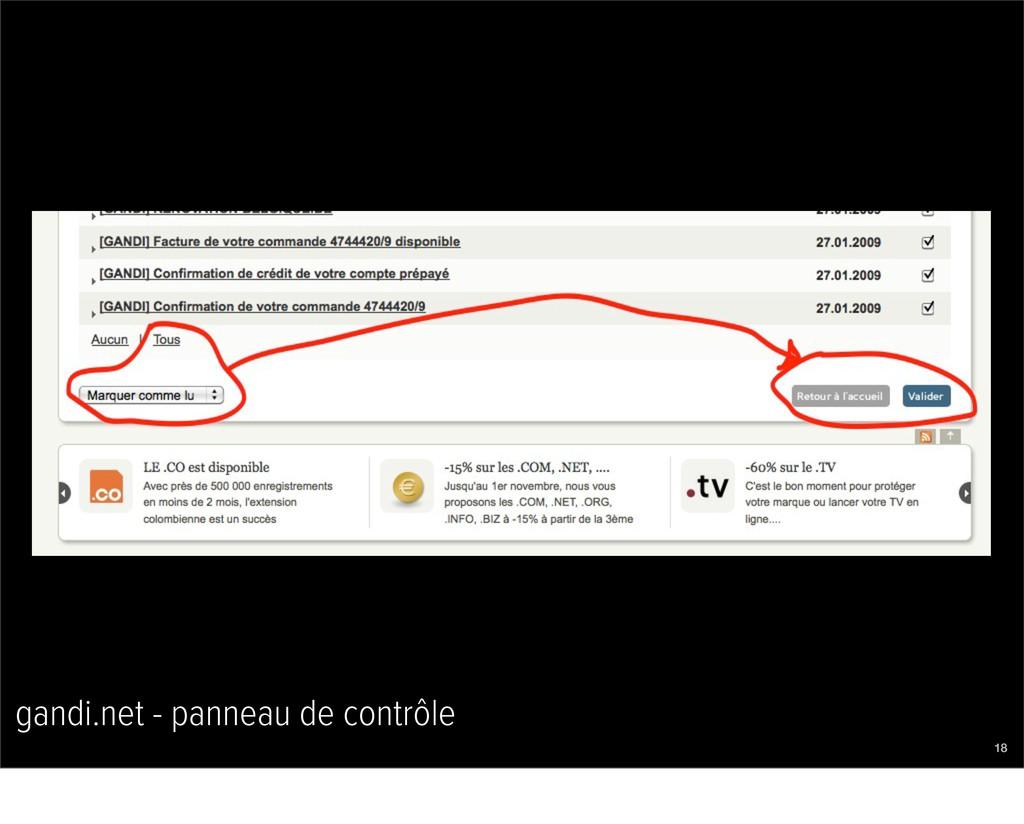 gandi.net - panneau de contrôle 18