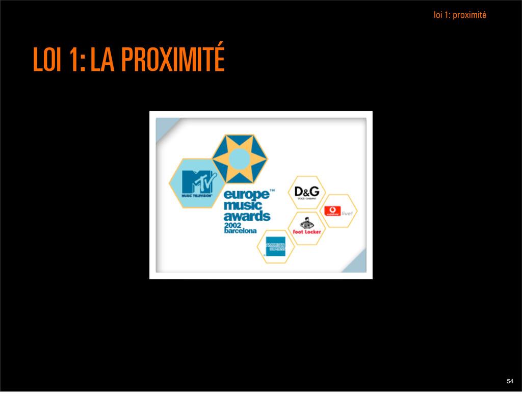 54 LOI 1: LA PROXIMITÉ loi 1: proximité