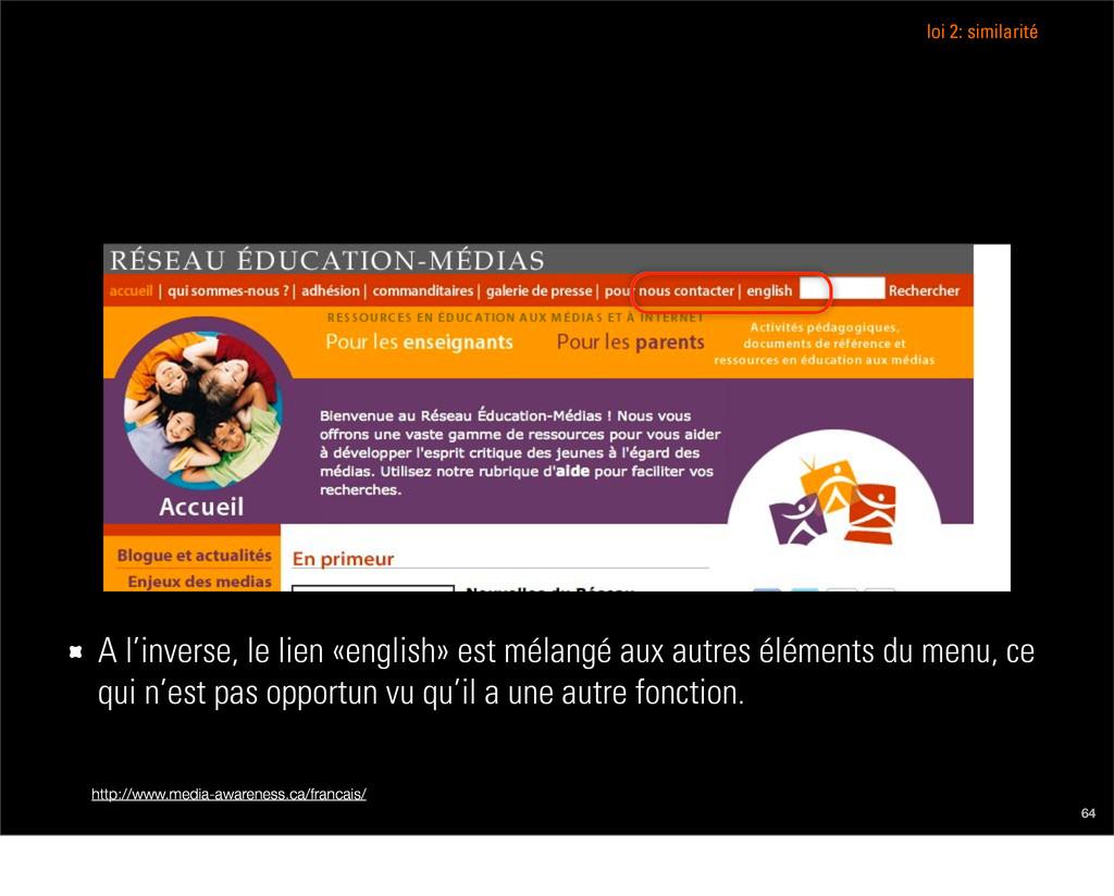 http://www.media-awareness.ca/francais/ 64 A l'...