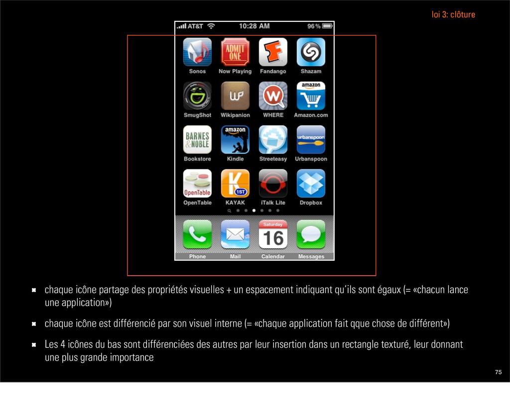 75 chaque icône partage des propriétés visuelle...