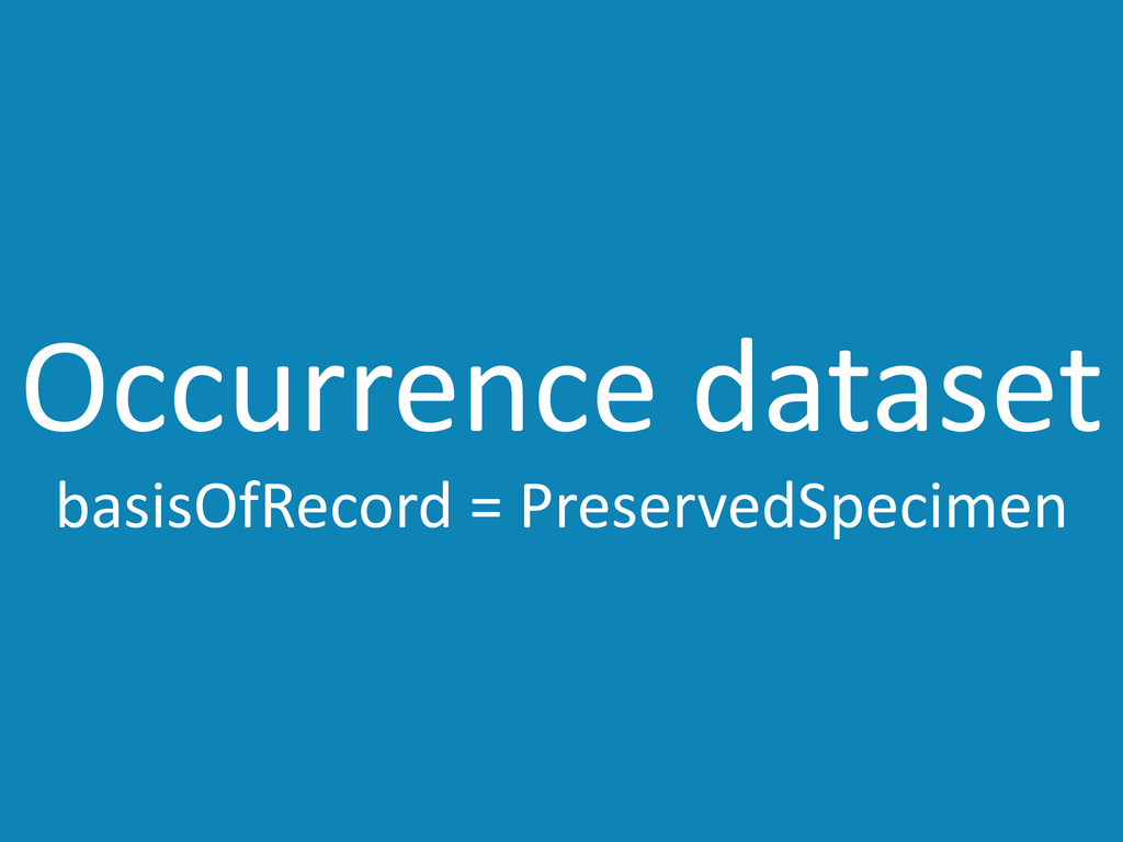 Occurrence	