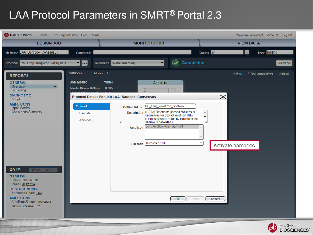 LAA Protocol Parameters in SMRT® Portal 2.3 Act...