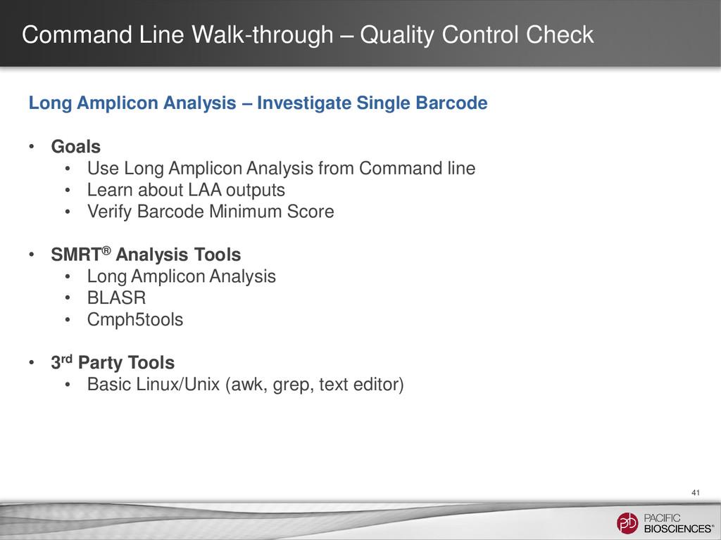 Command Line Walk-through – Quality Control Che...
