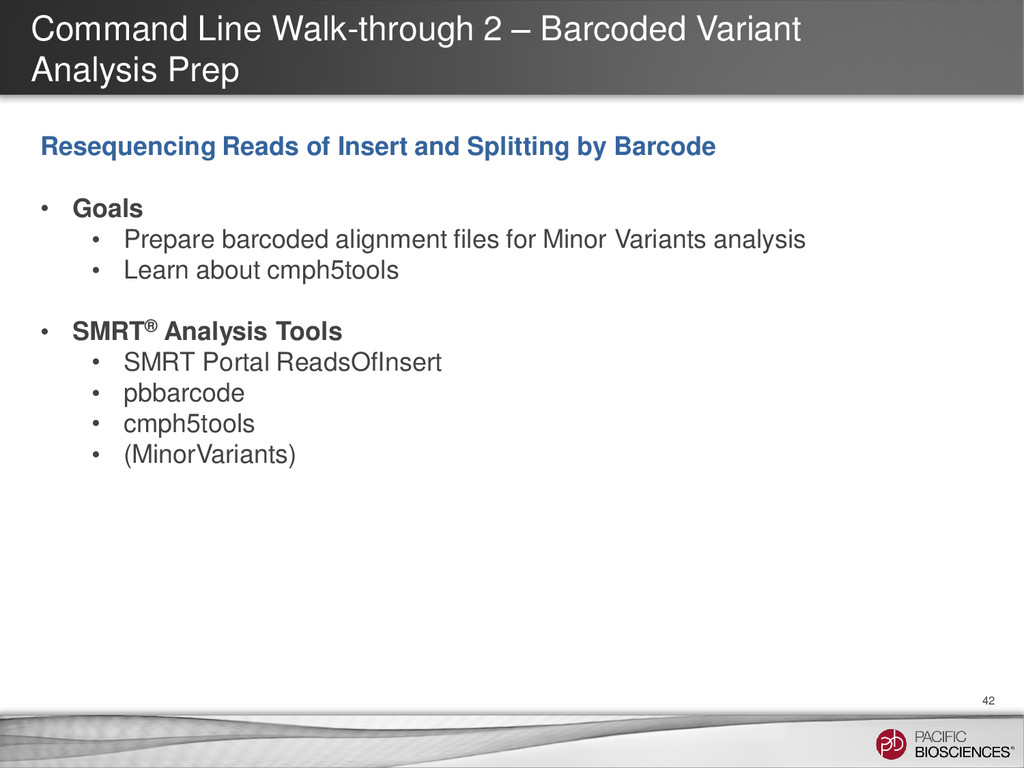 Command Line Walk-through 2 – Barcoded Variant ...