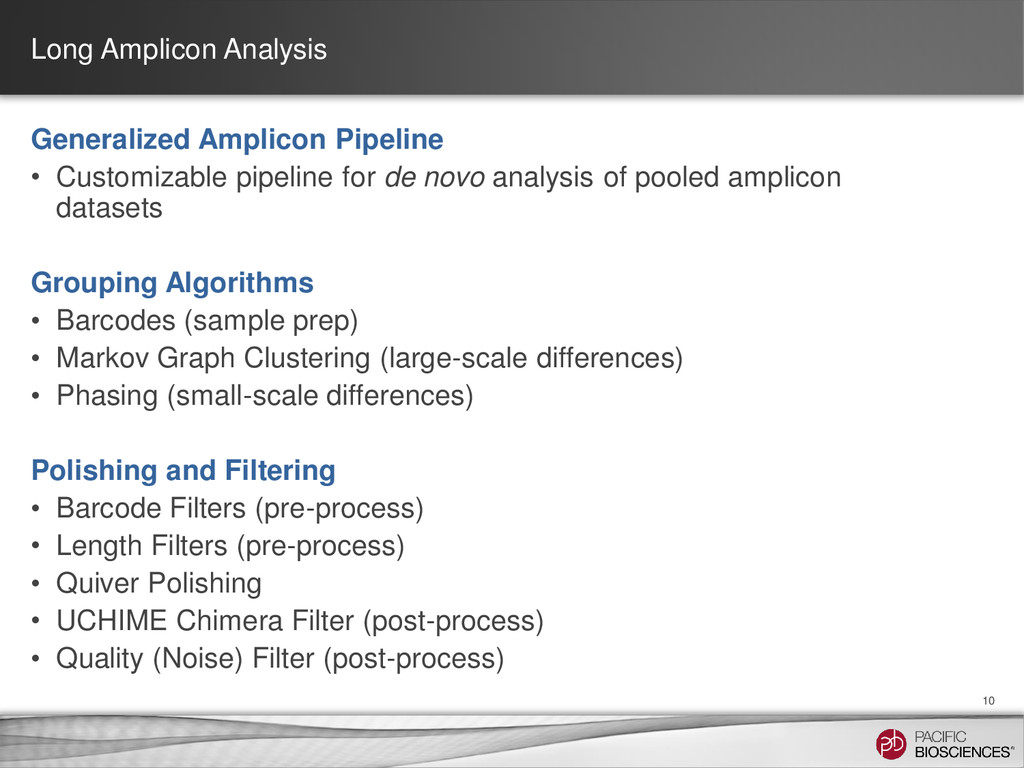 Long Amplicon Analysis 10 Generalized Amplicon ...