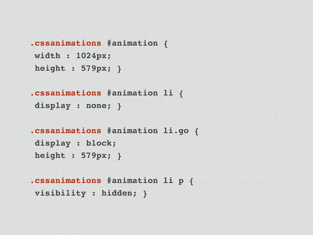 .cssanimations #animation { width : 1024px; hei...