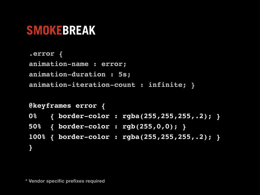 .error { animation-name : error; animation-dura...
