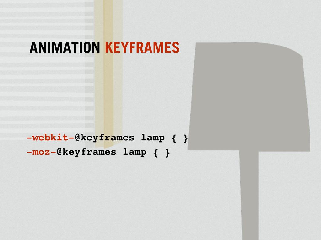 -webkit-@keyframes lamp { } -moz-@keyframes lam...