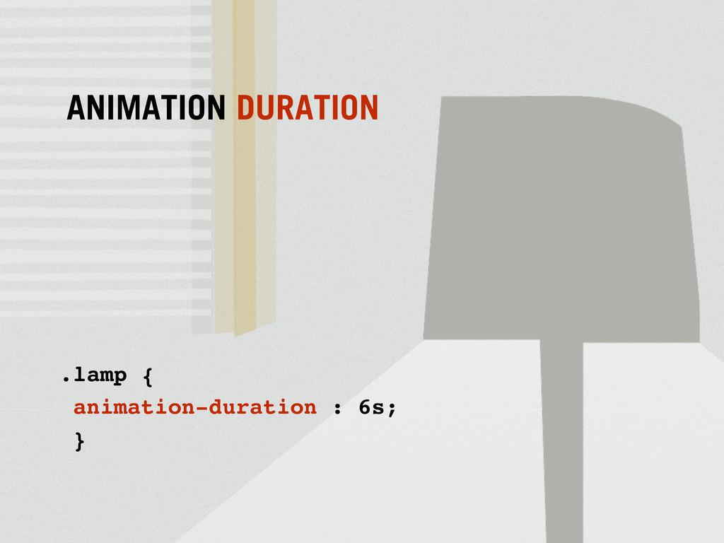 .lamp { animation-duration : 6s; } ANIMATION DU...