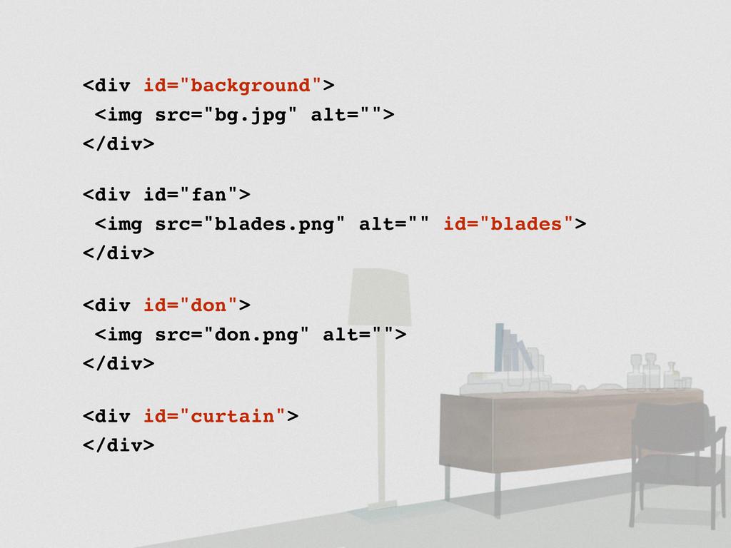 "<div id=""background""> <img src=""bg.jpg"" alt="""">..."