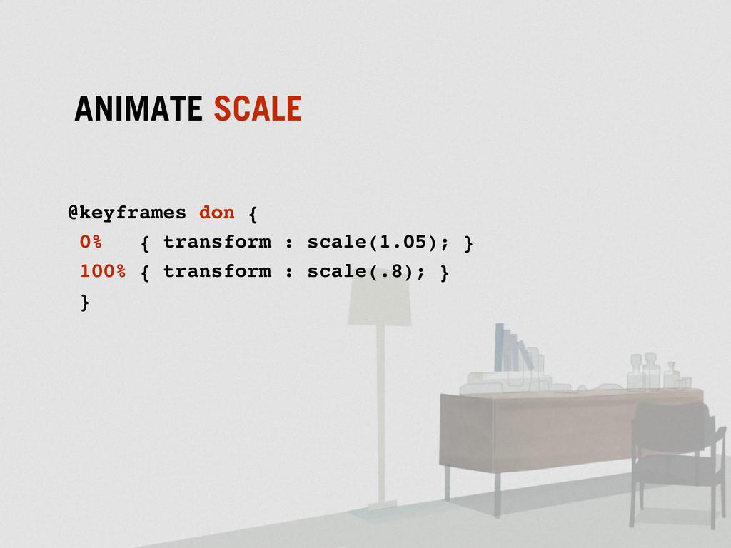@keyframes don { 0% { transform : scale(1.05); ...
