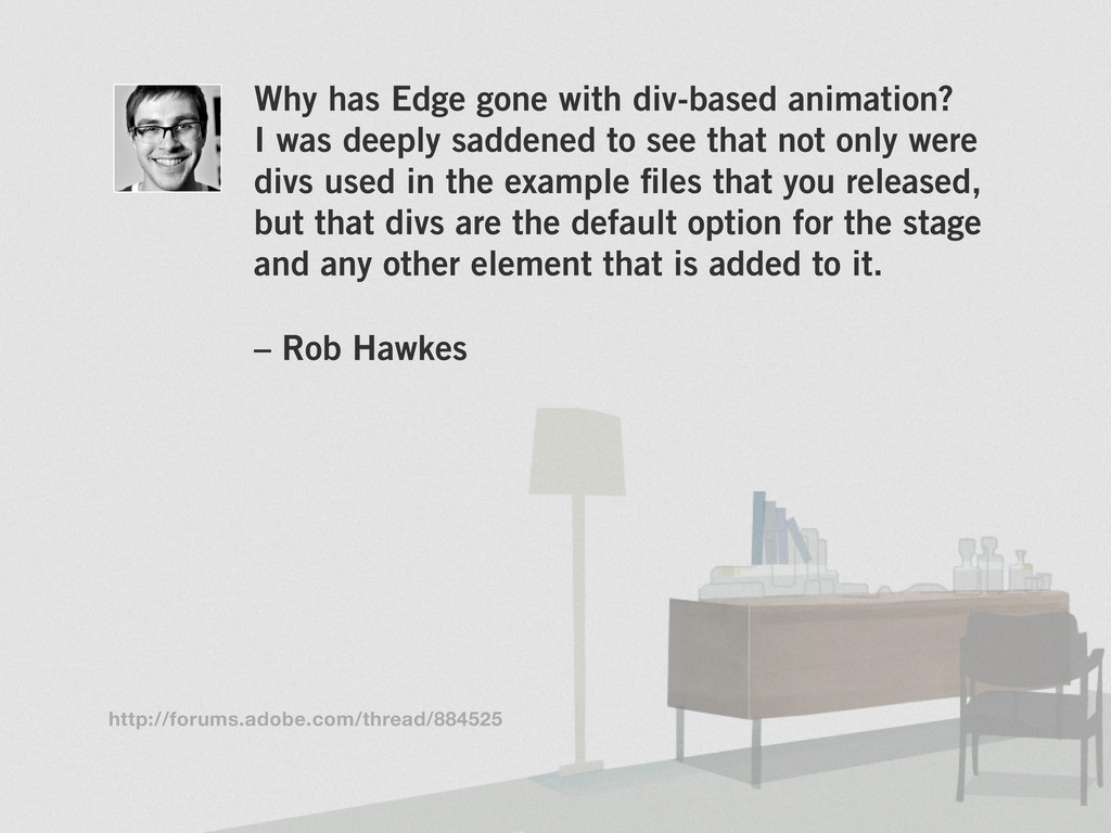 Why has Edge gone with div-based animation? I w...