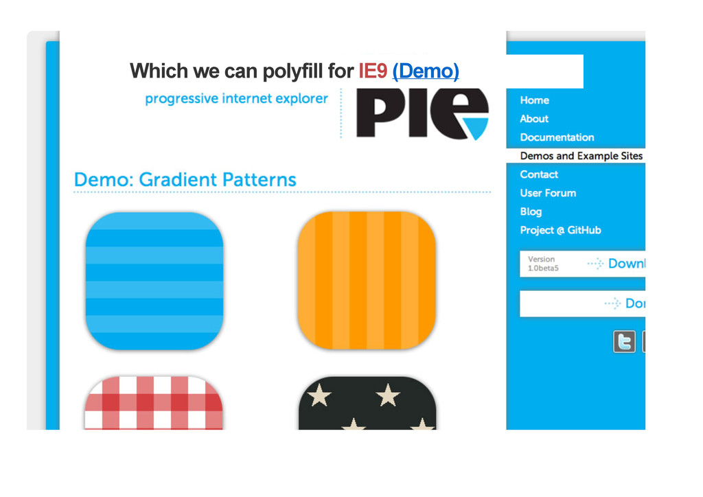 Which we can polyfill for IE9 (Demo)