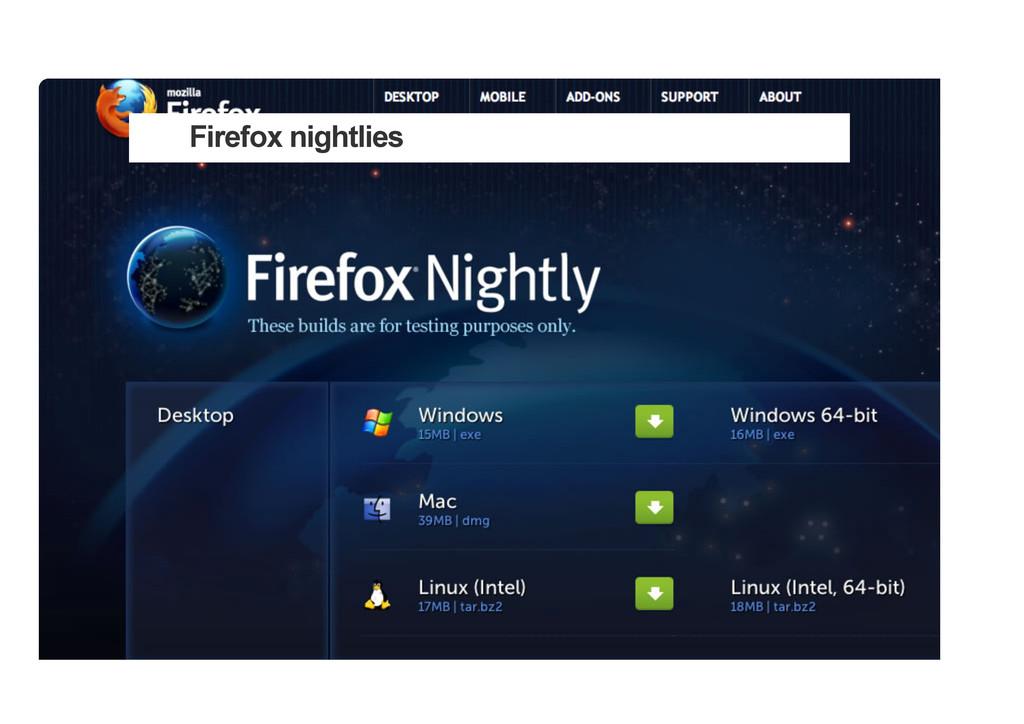 Firefox nightlies
