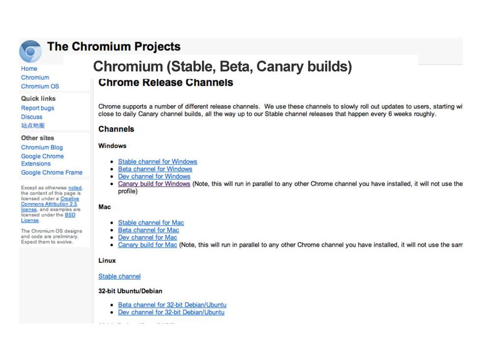Chromium (Stable, Beta, Canary builds)