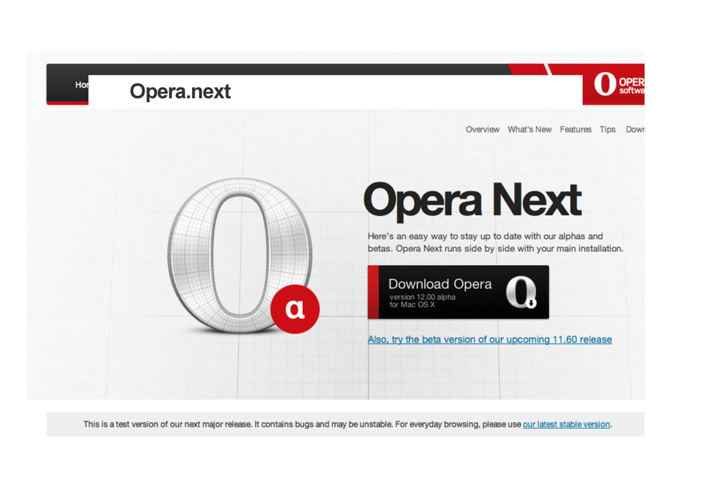 Opera.next